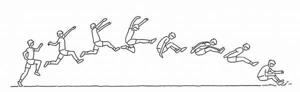 Længdespring i idræt - Undervisning